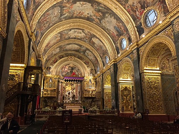 St. Johns Cathedral. Ein MUSS in Valletta. Gigantisch. Die Kirche des Heiligen Johannes, dem Begründer der Malteser.