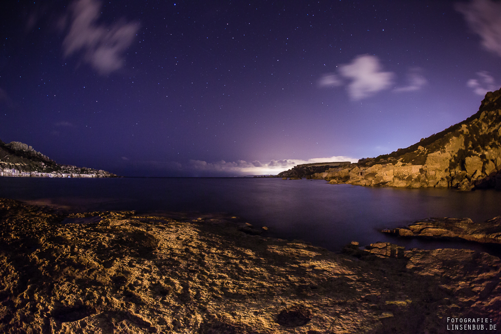 Gnejna Bay at Night