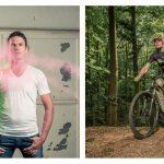 Farbpulver & Mountainbike