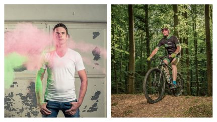 Farbpulver & Mountainbike