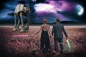 Composing_Nina u. Kevin_Star Wars – AT AT_Klein_NEU